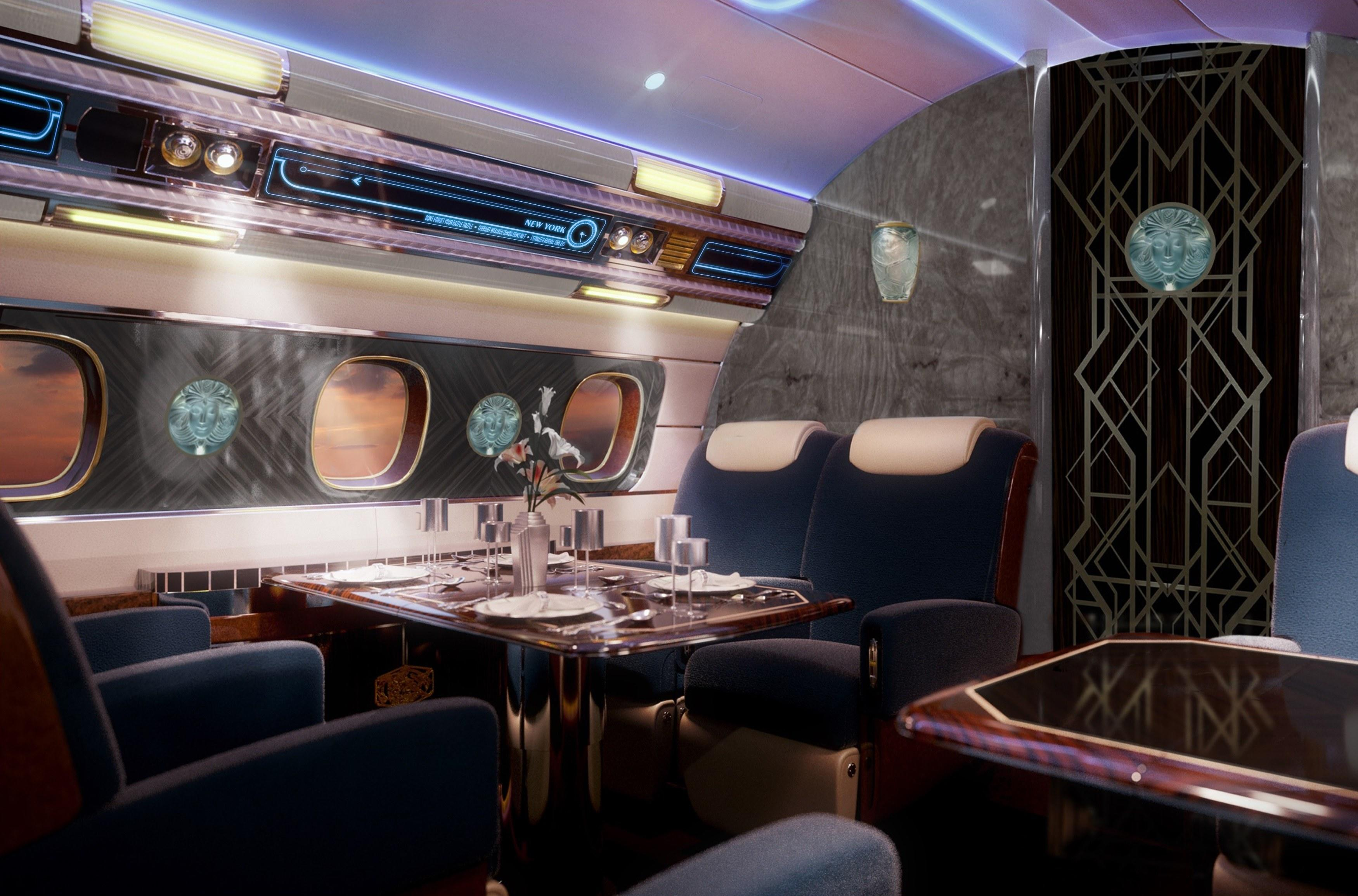 Deco Design New York embraer's newest $80 million private jet is inspiredart