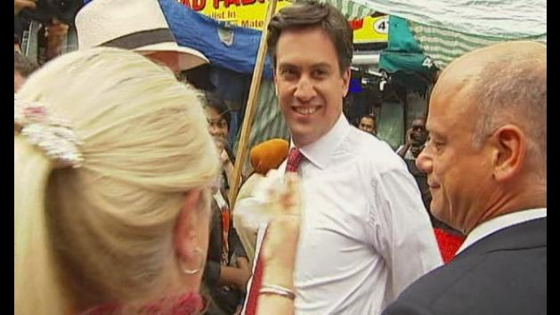 Ed Miliband egged in south London