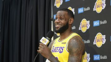 LeBron James is right at home with the Lakers ... and all the challenges that lie ahead
