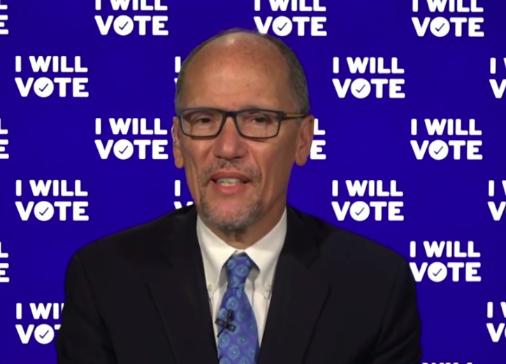 DNC chair says early-vote numbers point to enthusiasm for Democrats