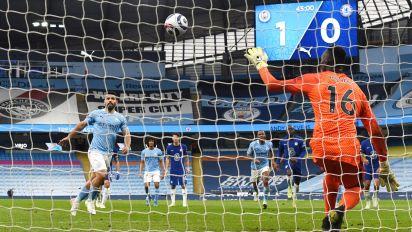 Guardiola defends Agüero after fluffed Panenka opens door to Chelsea win