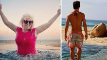 Rebel Wilson shows off weight loss in pink swimsuit