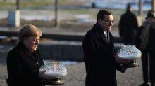 """Merkel expresa """"profunda vergüenza"""" en visita a Auschwitz, promete luchar contra antisemitismo"""