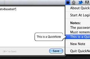TUAW's Daily Mac App: QuickNotes