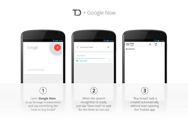 Todoist 2.1 for Android leverages Google Now for adding new reminders