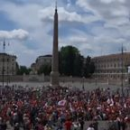 Unmasked Coronavirus Deniers Crowd Italian Piazza to Protest Health Measures Amid Pandemic They Claim 'Never Existed'