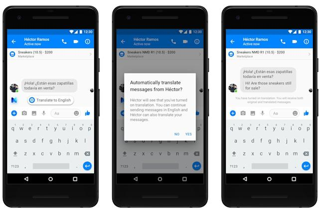 Facebook Messenger will begin translating English to Spanish soon