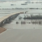 Helicopter Flyover Shows Flooded Plains in Eastern Nebraska