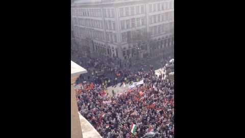 PM Orban Addresses 100,000 in Central Budapest
