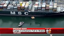 Cargo Containers Fall Into Water In San Pedro