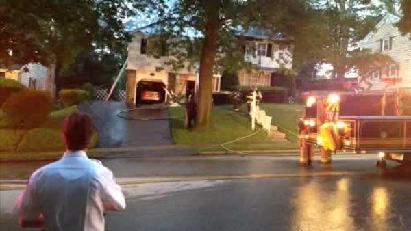 Partial roof collapse in Springfield house fire
