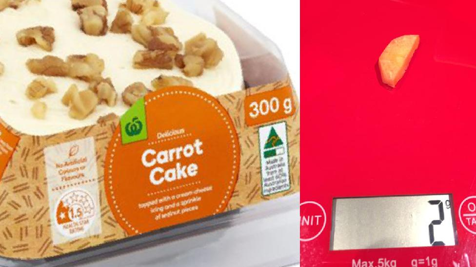 Sleuth shopper exposes reality behind Woolies' 'carrot' cake