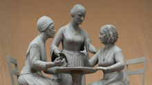 'Breaking the bronze ceiling': Statue of iconic suffragists in New York's Central Park makes history on 19th Amendment anniversary