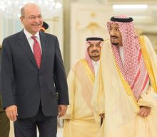 Saudi king hosts Iraq's new president