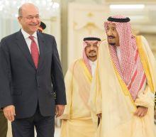 Saudi king hosts Iraq's new president