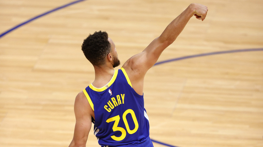 Curry giving it his best shot, and we're all winners