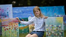 'Mini Monet's' paintings sell for up to £10,000