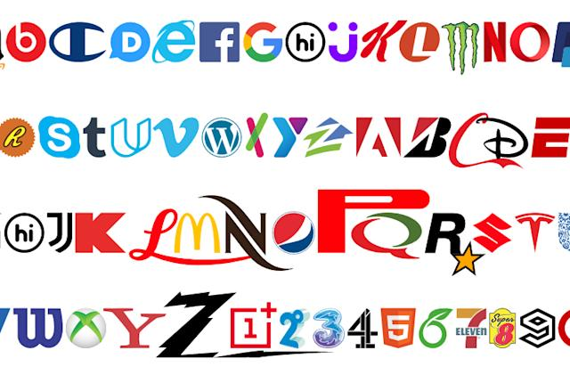 This funky new font is made up entirely of brands