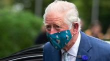 Prince Charles wears face covering in public for first time as he and Camilla visit Northern Ireland