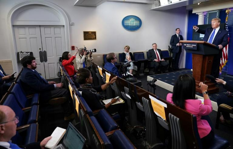 President Donald Trump speaks on April 23, 2020 during the daily coronvirus task force press briefing in which he suggested injecting disinfectant could help fight coronavirus (AFP Photo/MANDEL NGAN)