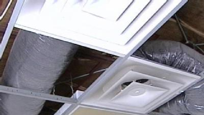 Storm Hits Belen Courthouse Hard