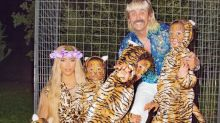 Kim Kardashian and her kids just dressed up as Tiger King for Halloween