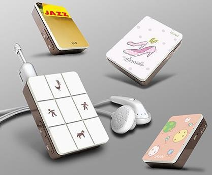 IRiver's S7 digital audio player: stickers yes, display no