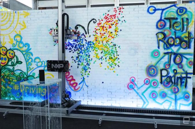 Tell this robot to graffiti a wall for you