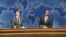 Tom Hanks, Larry David and Alec Baldwin join the 'SNL' cast for the first 'Saturday Night Live at Home'