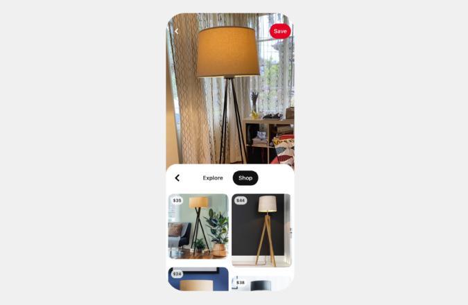 Pinterest Shop Tab Lens