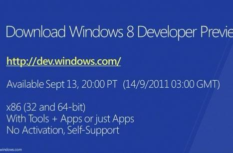 Windows 8 developer preview: when and where to download (update: right now, here!)