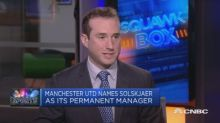 Manchester United names Solskjaer as its permanent manager