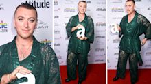Sam Smith attends awards ceremony in lace 'underwear'