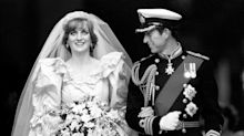 Diana's continual weight loss meant her wedding dress was adjusted multiple times