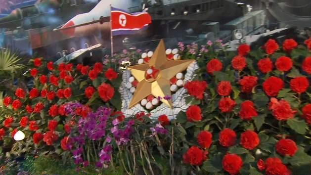 North Koreans Say It With Flowers