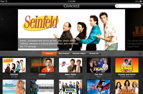Crackle for iOS brings free movies and TV shows to iPads, iPhones