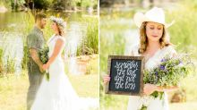 Grieving Bride Honors Late Fiancé With Emotional Photo Shoot