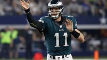 Carson Wentz explains how he tossed aside a Cowboys fan's hat (video)