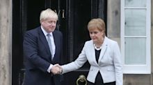 Scottish paper seizes on Boris Johnson's 'misleading' claim SNP said first independence referendum was 'once-in-a-generation'