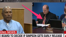 A member of OJ Simpson's parole board wore a Kansas City Chiefs tie to the hearing and Twitter was quick to take notice