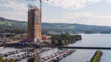 FOTOS I Así es el edificio de madera más alto del mundo
