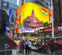 Hindu temple ad runs in Times Square despite opposition