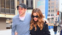 Pete Davidson and Kate Beckinsale Show Sweet PDA on Their Way to a Hockey Game in N.Y.C.