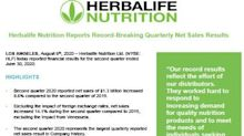 Herbalife Nutrition Reports Record-Breaking Quarterly Net Sales Results