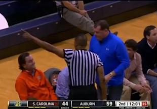 The Auburn Fan Was Ejected With About 12 Minutes Remaining In The Tigersu0027  83 67 Victory After Saying Something Critical Of Referee Ted Valentine From  His ...