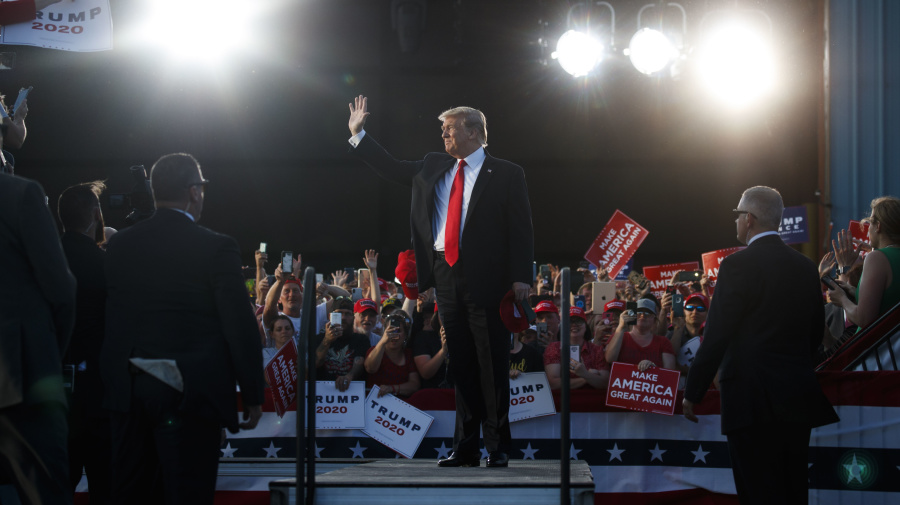 Trump touts 2020 chances in Pa. rally, swipes at Biden