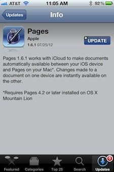 Apple updates some iOS apps for better Mountain Lion and iCloud compatibility