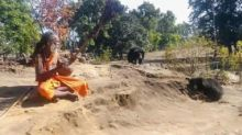 Wild bears along with their two cubs find spiritual solace in Sitaram hermit''s bhajans