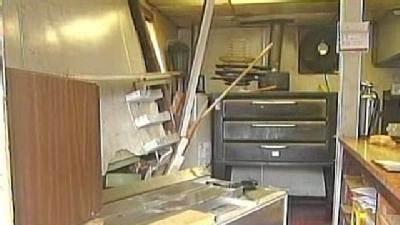 Car Crashes Into Fox's Pizza