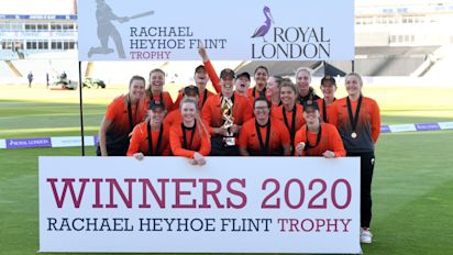 Southern Vipers round off perfect season by defeating the Northern Diamonds in Rachael Heyhoe Flint Trophy Final